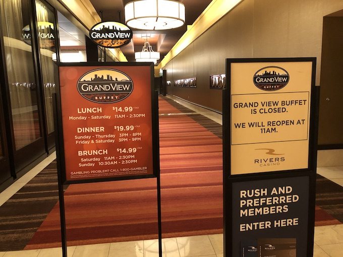 Entrance to Grand View Buffet [Rivers Casino Pittsburgh]
