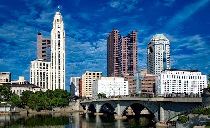 Downtown Columbus Skyline [Ohio Slot Machine Casino Gambling 2019]