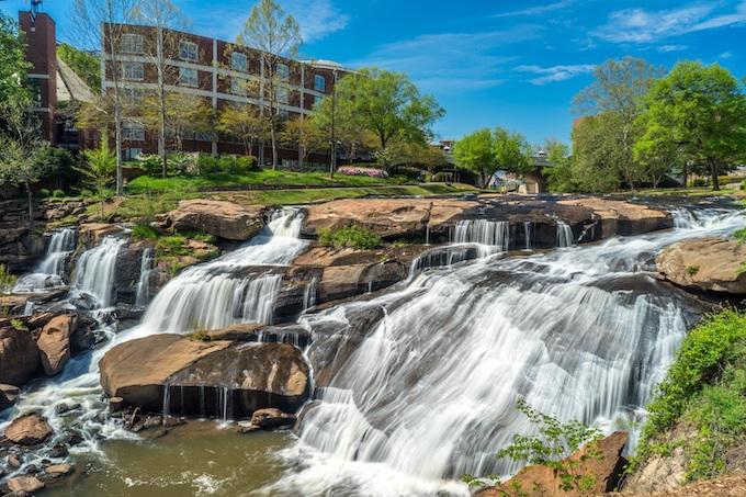 Waterfall at Greensville Falls Park [South Carolina Slot Machine Casino Gambling 2019]