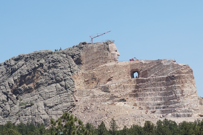 Crazy Horse Memorial Under Construction [American Indian Tribal Casinos]