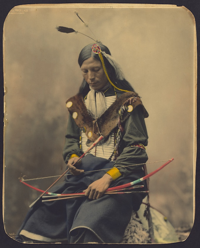 Bone Necklace, Oglala Sioux Council Chief, 1899 [American Indian Tribal Casinos]