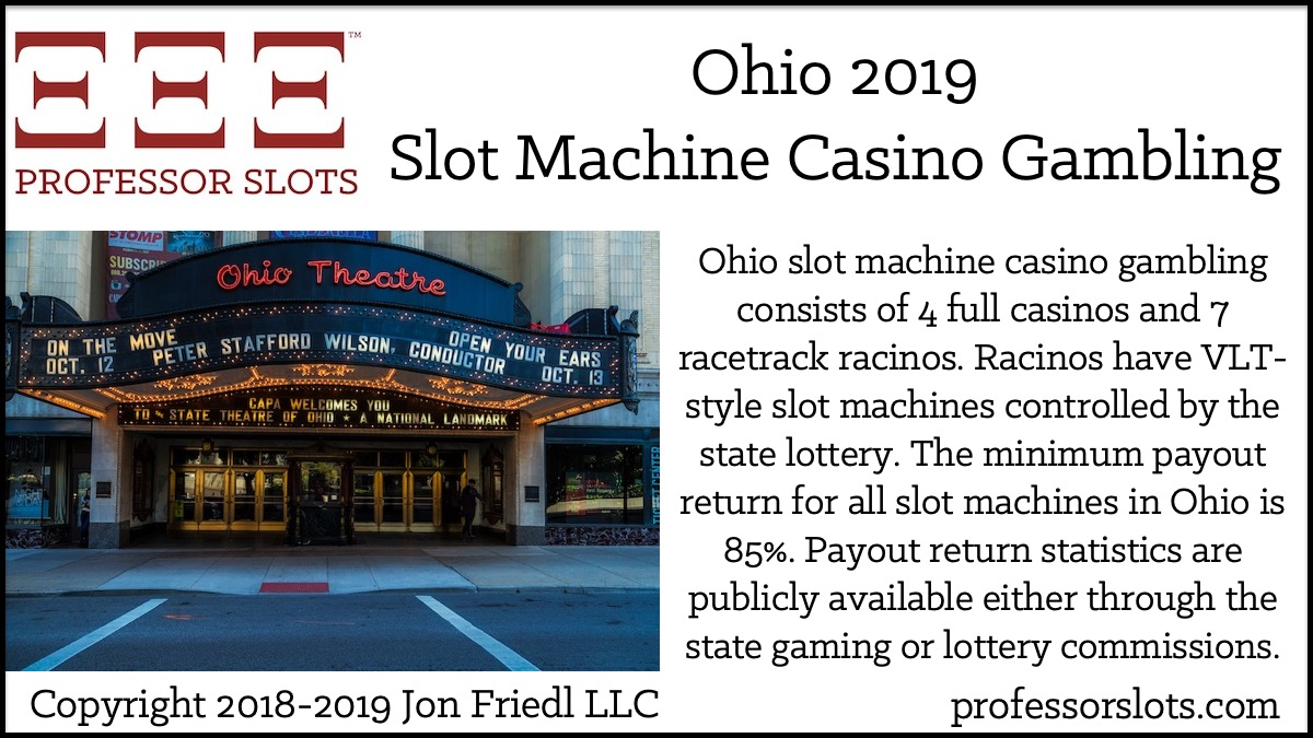 Ohio Slot Machine Casino Gambling in 2019 | Professor Slots