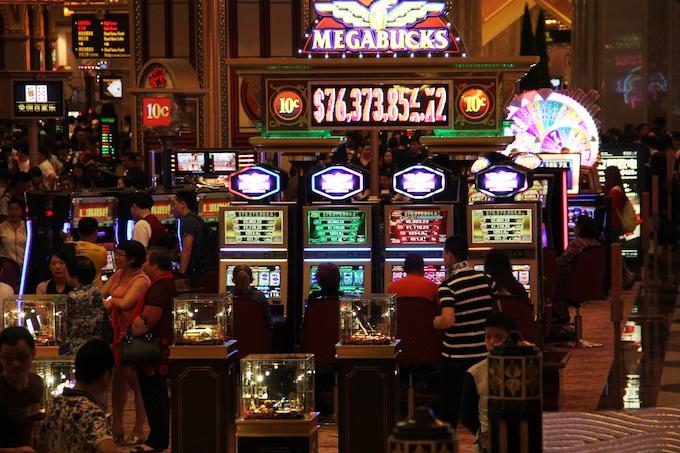 Inside a Casino in Las Vegas, Nevada [Slot Machines Invented]