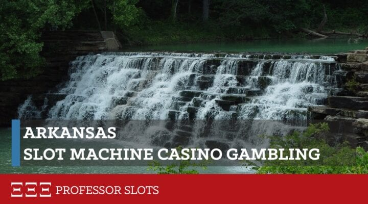 Arkansas slot machine casino gambling consists of two racetracks with gaming machines having a minimum theoretical payout limit of 83%. While all machines have the legally- required skill-based gaming option, it often goes unused on a secondary screen in preference to a Vegas-style game found on the primary screen.