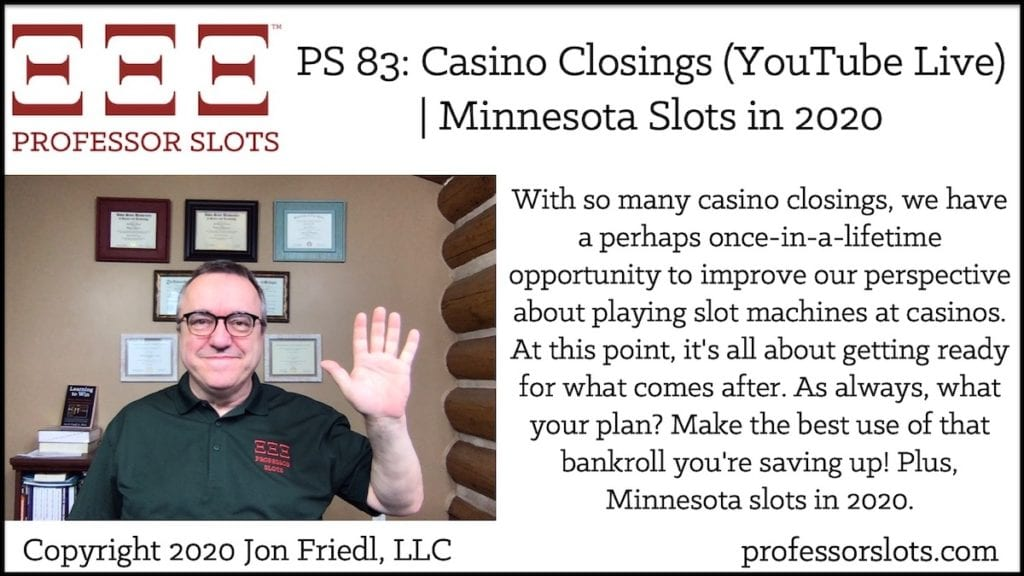 Is your casino closed? Don't want to go out in public? No televised national sports teams? Being in the middle of the COVID-19 pandemic doesn't mean you need be bored! Let's meet online instead to talk about slots! Virtually speaking, come and gather around together online where it's ... safe? Plus, Michigan slots in 2020.