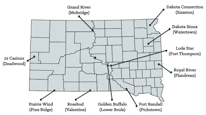 Map of South Dakota Casinos [South Dakota Slot Machine Casino Gambling in 2020]