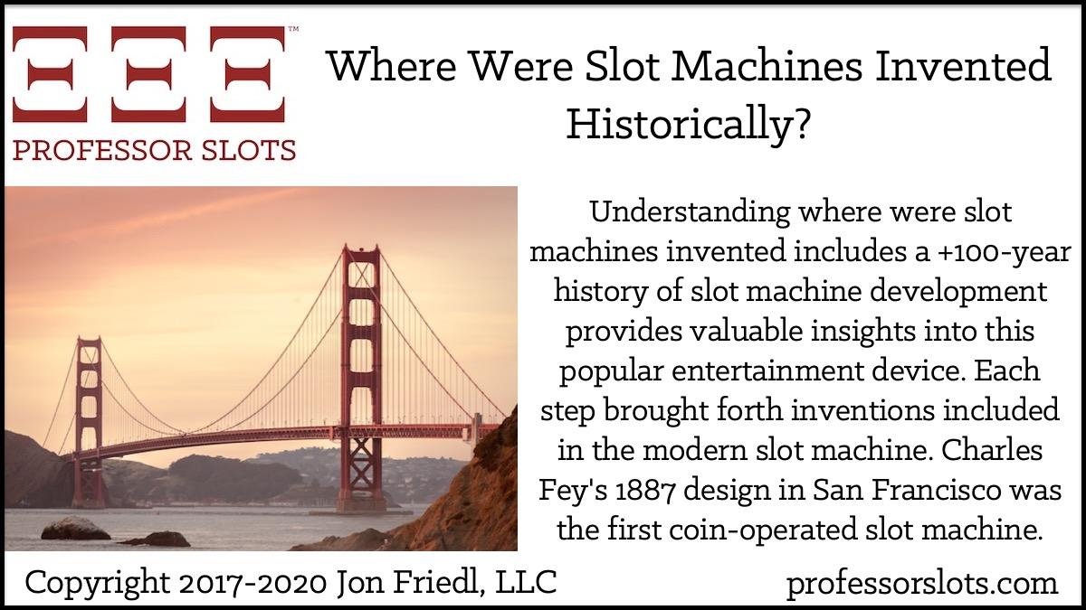 When Were Slot Machines Invented