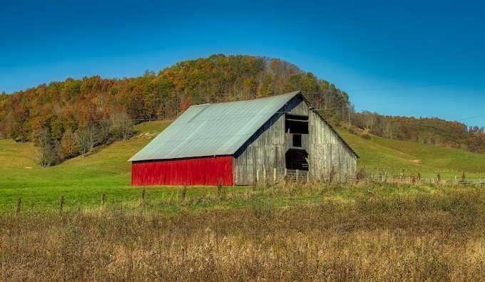 Barn in a Field During Fall [West Virginia Slot Machine Casino Gambling in 2020]