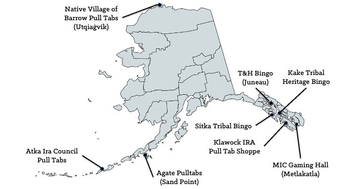 Alaska Casinos Map [Alaska Slot Machine Casino Gambling in 2020]