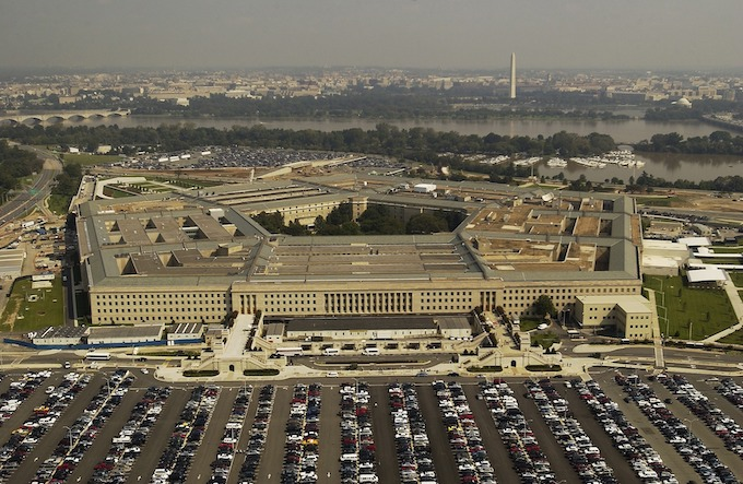 Aerial View of Pentagon Building [District of Columbia Slot Machine Casino Gambling in 2020]
