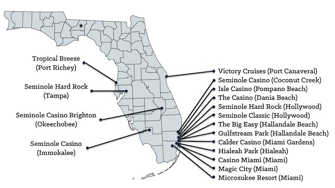 Florida Casinos Map [Florida Slot Machine Casino Gambling in 2020]