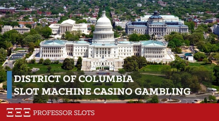 District of Columbia slot machine casino gambling does not exist here, in the nation's capital of Washington. Nearby Maryland offers slot machines at their casinos. Further, neighboring Virginia has recently approved casinos. Since 1982, the DC lottery has paid out more than 50% of sales in prizes totaling $3.8B since 1982.