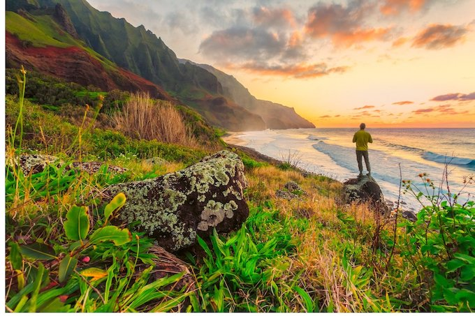 Mountainous Shoreline at Sunset [Hawaii Slot Machine Casino Gambling in 2021]