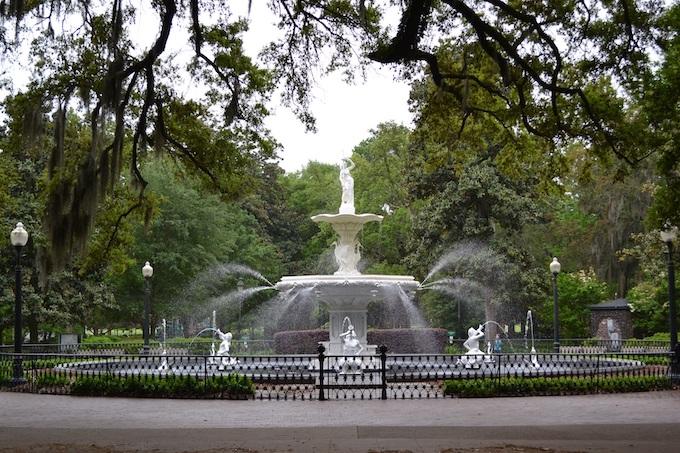 Forsyth Park Fountain in Savannah [Georgia Slot Machine Casino Gambling in 2021]