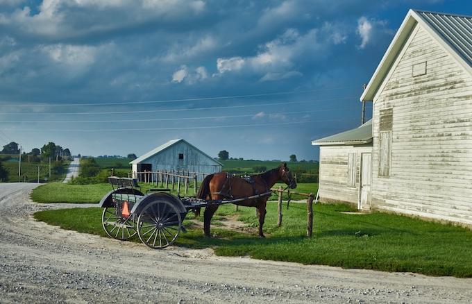 Amish Community Horse and Buggy [Iowa Slot Machine Casino Gambling in 2021]