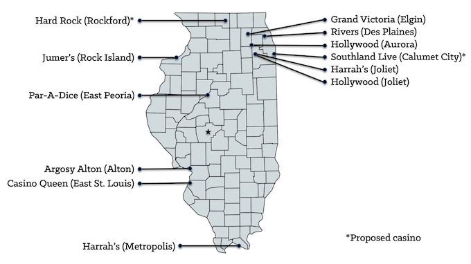 Illinois Casinos Map [Illinois Slot Machine Casino Gambling in 2021]