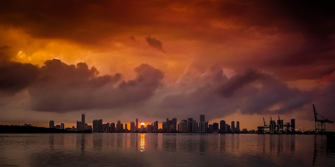 Miami Skyline at Sunset [Florida Slots RTP]