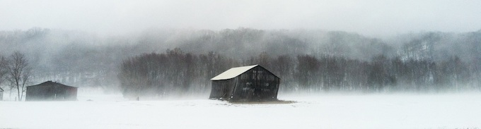 Old Barn During Snowstorm [Indiana Slot Machine Casino Gambling in 2021]