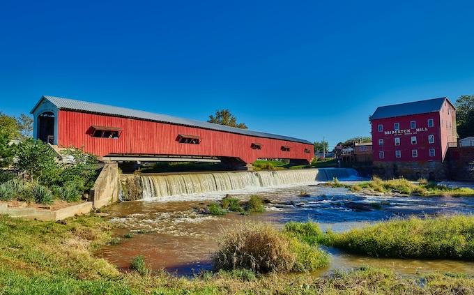 Covered Bridge at Bridgeton Mill [Indiana Slots Return-To-Player 2021]