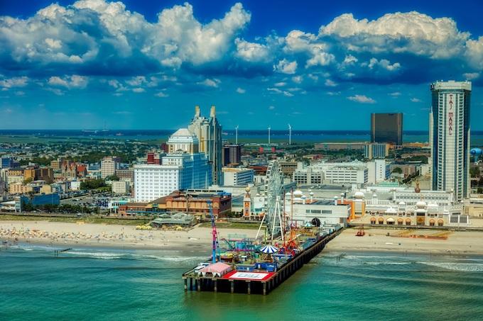 Atlantic City Boardwalk Aerial View [New Jersey Slots Return-To-Player 2021]
