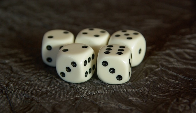 Five White Dice [Roulette Wheels]