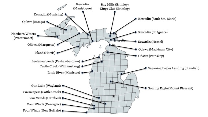 Michigan Casinos Map [Michigan Slot Machine Casino Gambling in 2021]