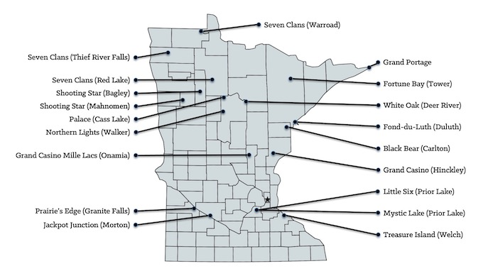 Minnesota Casinos Map [Minnesota Slot Machine Casino Gambling in 2021]