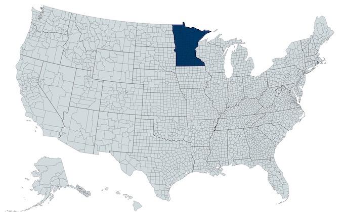 Minnesota on a U.S. Map [Minnesota Slot Machine Casino Gambling in 2021]