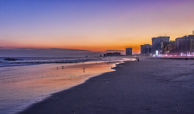 Atlantic City Beach at Sunset [New Jersey Slots Return-To-Player 2021]