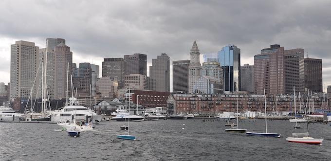 City of Boston Skyline from its Harbor [Massachusetts Slot Machine Casino Gambling in 2021]