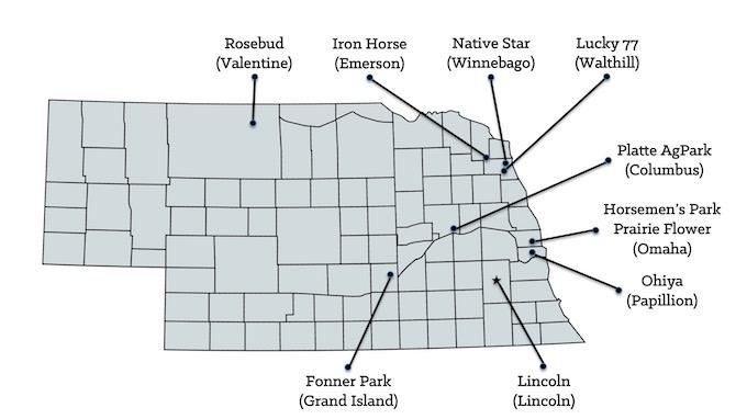 Nebraska Casinos Map [Nebraska Slot Machine Casino Gambling in 2021]