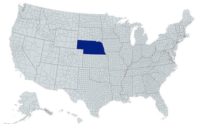 Nebraska on a U.S. Map [Nebraska Slot Machine Casino Gambling in 2021]