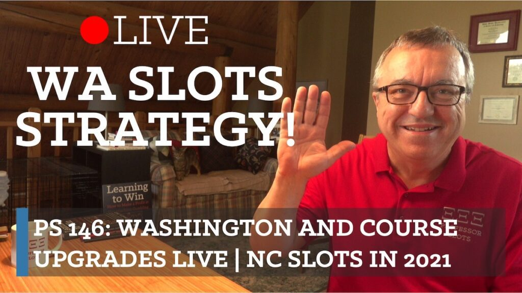 Washington slots strategy and my live stream on successfully upgrading my online course 30 Days to Play Slots Smarter and Win. Since so many of you (100s!) have purchased this course already have lifetime access to future updates, I go over what's new and improved about the course. Plus, North Carolina slots in 2021.