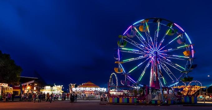 The Wyoming State Fair at Night [Wyoming Slot Machine Casino Gambling in 2019]
